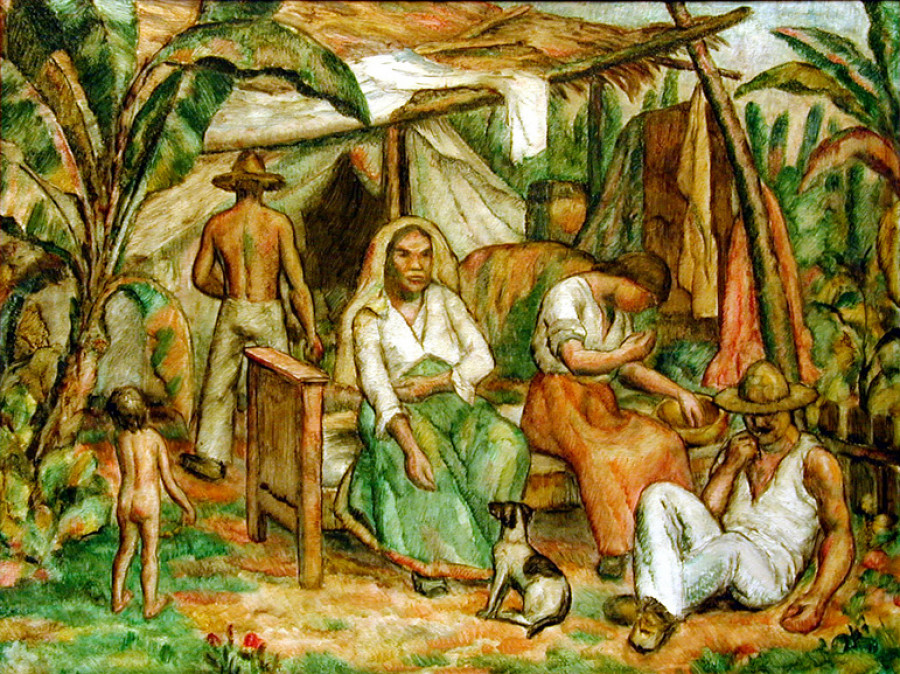 <i>Mexican Peasant Scene</i>, ca. 1919, By Edward Middleton Manigault (American, 1887&ndash;1922); Oil on canvas on board; 22 in x 27 &frac34; inches (framed); Gift of Marlene and Richard Mayers