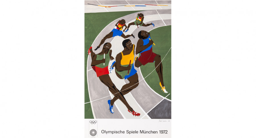 <i>Olympic Games</i>, 1971, by Jacob Lawrence (1917-2000); screen print on paper; 42 1/2 x 27 1/2 inches; Courtesy of The Jacob and Gwendolyn Knight Lawrence Foundation, Seattle &copy; 2015 Artists Rights Society (ARS), New York