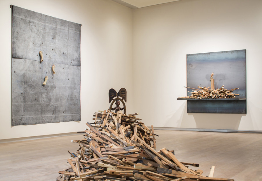 Installation view of <i>Radcliffe Bailey: Pensive</i>; Photo courtesy of SCAD