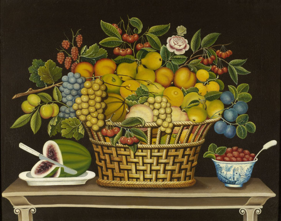 <i>Still Life with Basket of Fruit</i>, 1830—1850, Unidentified artist, Oil on canvas, Courtesy of the Barbara L. Gordon Collection