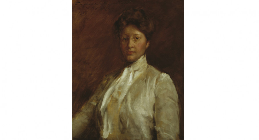 <i>Anna Heyward Taylor (1879 - 1956)</i>, 1903, By William Merritt Chase (American, 1849—1916); Oil on canvas; 30 1/4 x 24 inches; Gift of Anna Heyward Taylor; 1937.003.0001