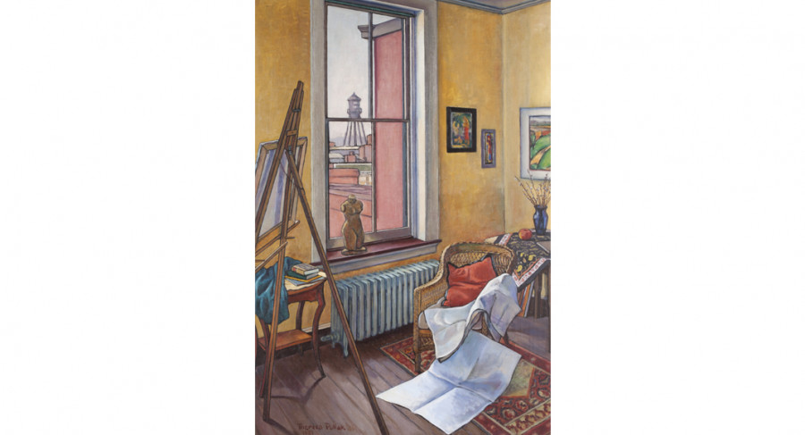 <i>Art Studio</i>, 1931, By Theresa Pollak (American, 1899—2002); Oil on canvas; 40 1/4 x 27 inches; 2013.10.09; The Johnson Collection, Spartanburg, SC