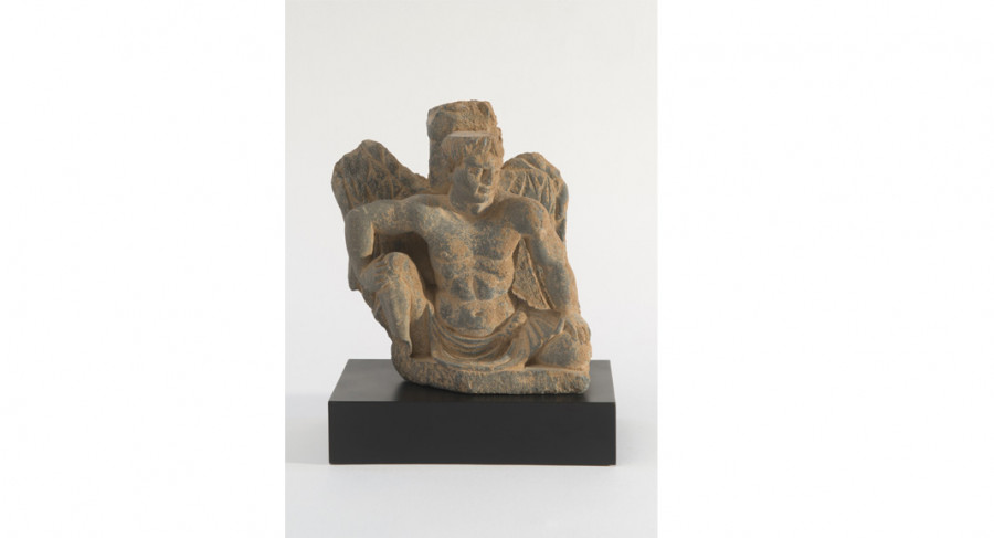 <i>Atlante</i>, c. 1st-3rd cent; Schist; Ancient Gandhara (now NW Pakistan); Courtesy of a private collection