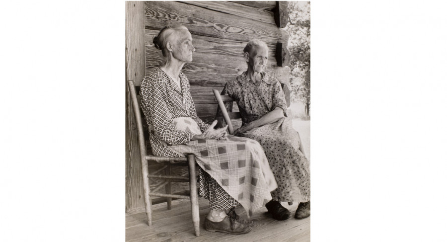 <i>Two Old Women</i>, 1937, By Margaret Bourke-White (American, 1904—1971); Gelatin silver print; Gift of Mr. Robert W. Marks; 1974.012.0016